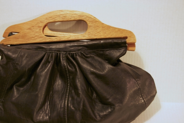 Wooden & Leather Bag -- NestingDoll.