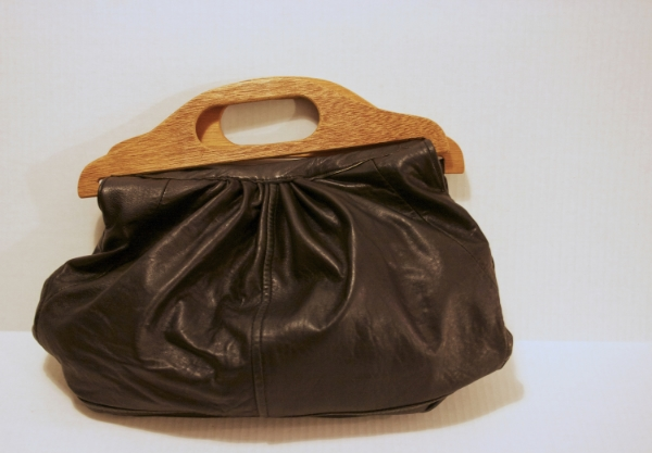 Wooden & Leather Bag - NestingDoll.