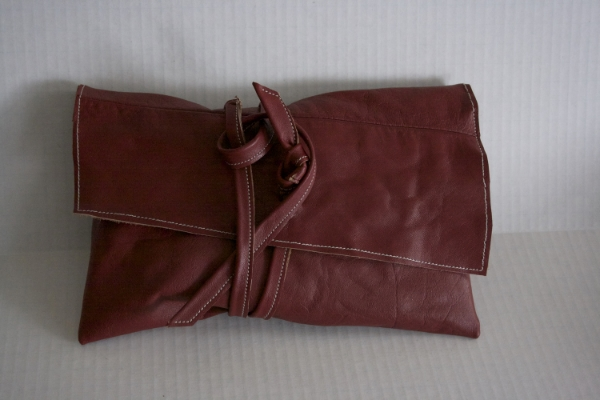 Red Wrap Clutch - NestingDoll.