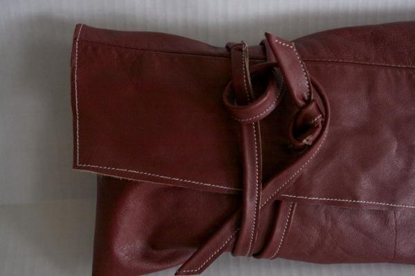 Red Wrap Clutch -- NestingDoll.
