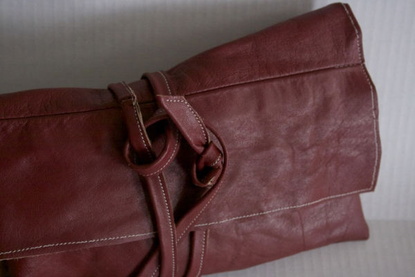 Red Wrap Clutch --- NestingDoll.