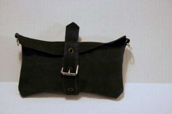 Navy Buckle Clutch ---NestingDoll.