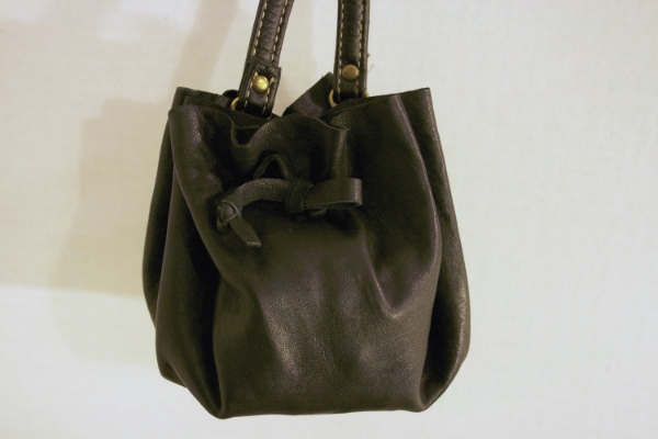 Black Pouch Bag -- NestingDoll.