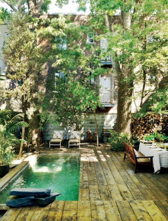 Find this image (and many other beautiful small pool backyards)  here .
