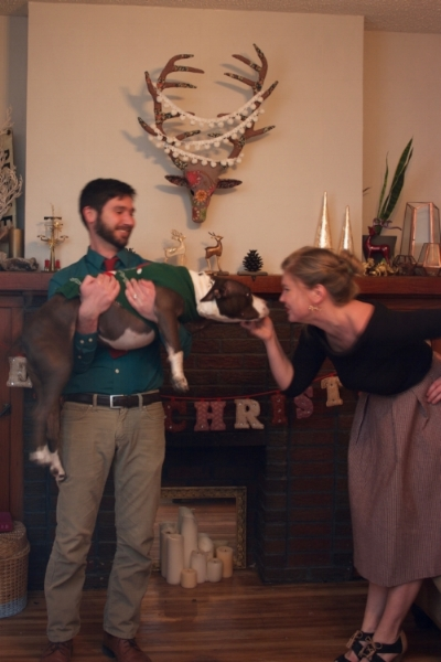 THIS!  Ignore how blurry this Christmas photo outtake is, and look how happy I am!?!  Look at that beautiful Addie body!  An angel! Happiness!