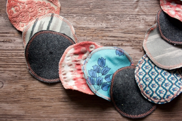 DIY Reusable Cotton Rounds from Fabric Scraps