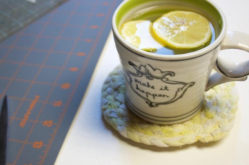 Repurposed: Old Tees to Mug Rugs.
