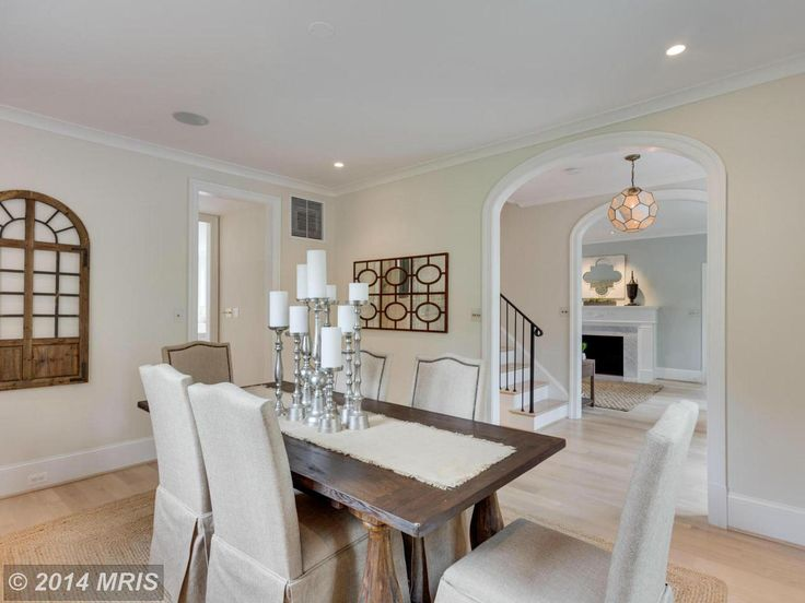 Light, bright formal dining space