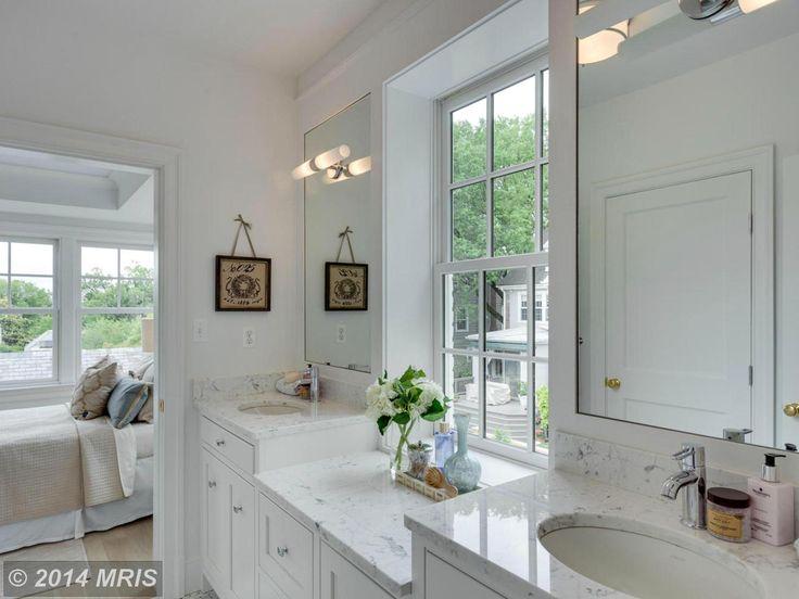 windowed white bath