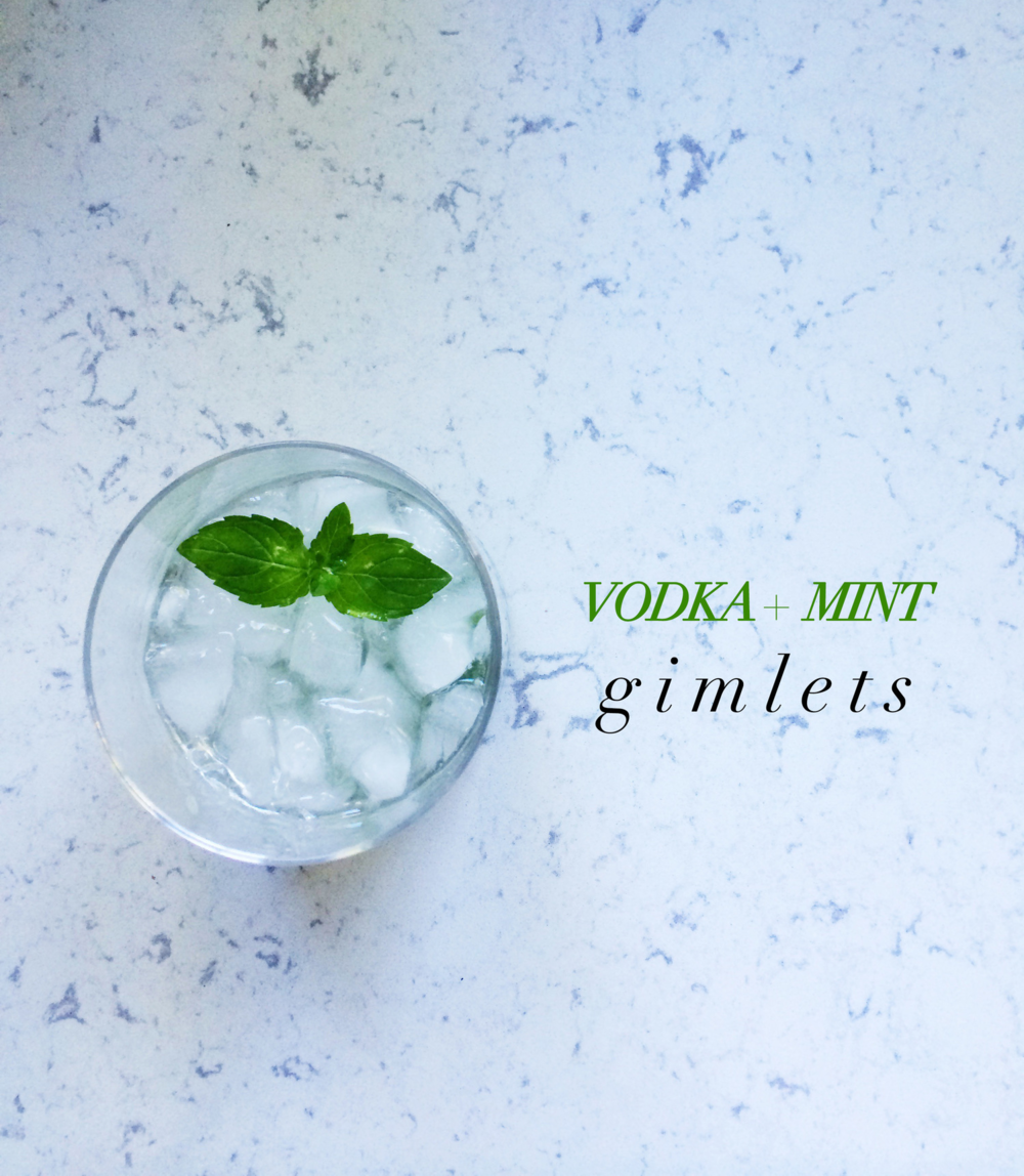 vodka and mint gimlets.