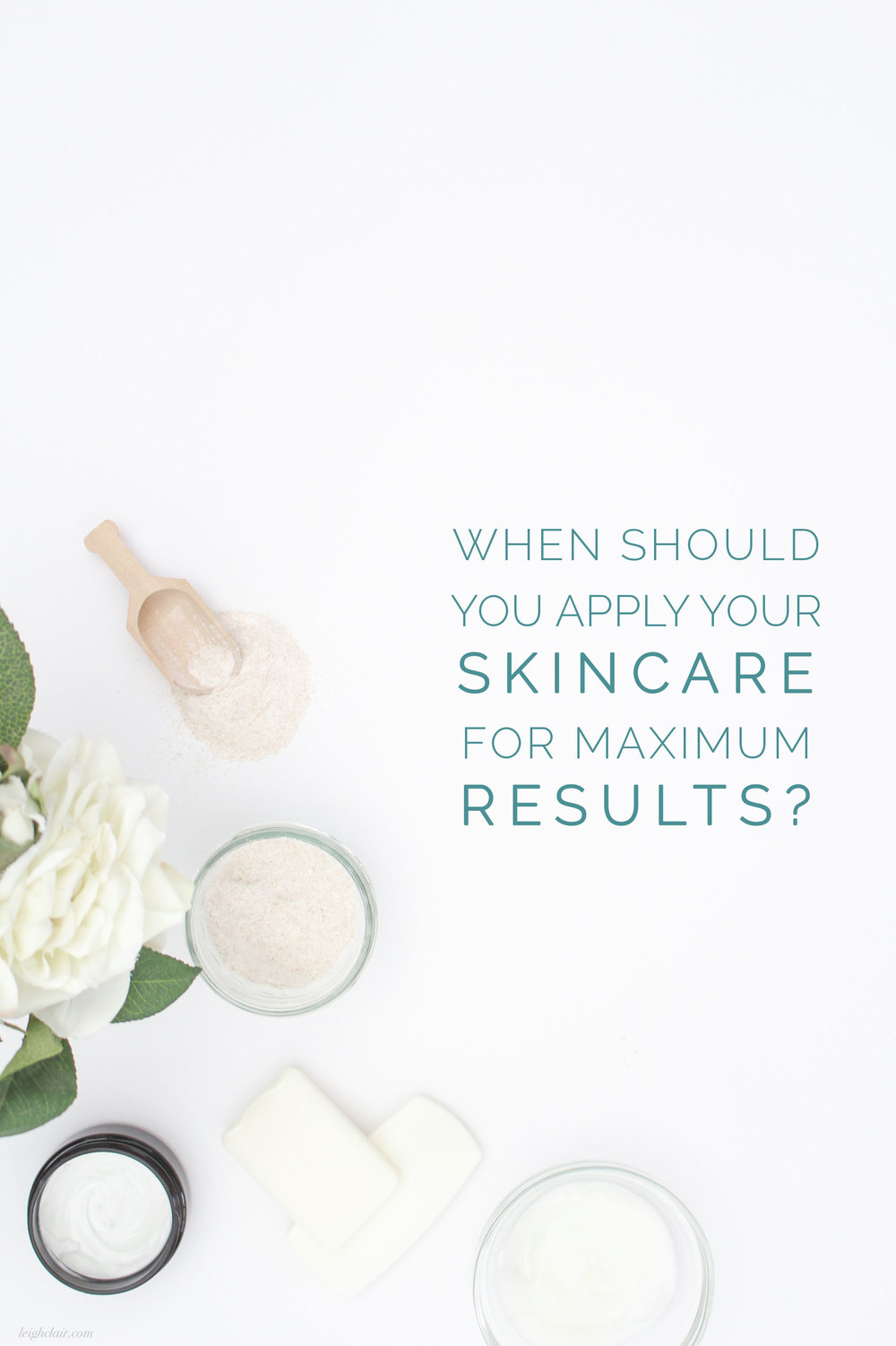Why you need to apply your skincare at peak times