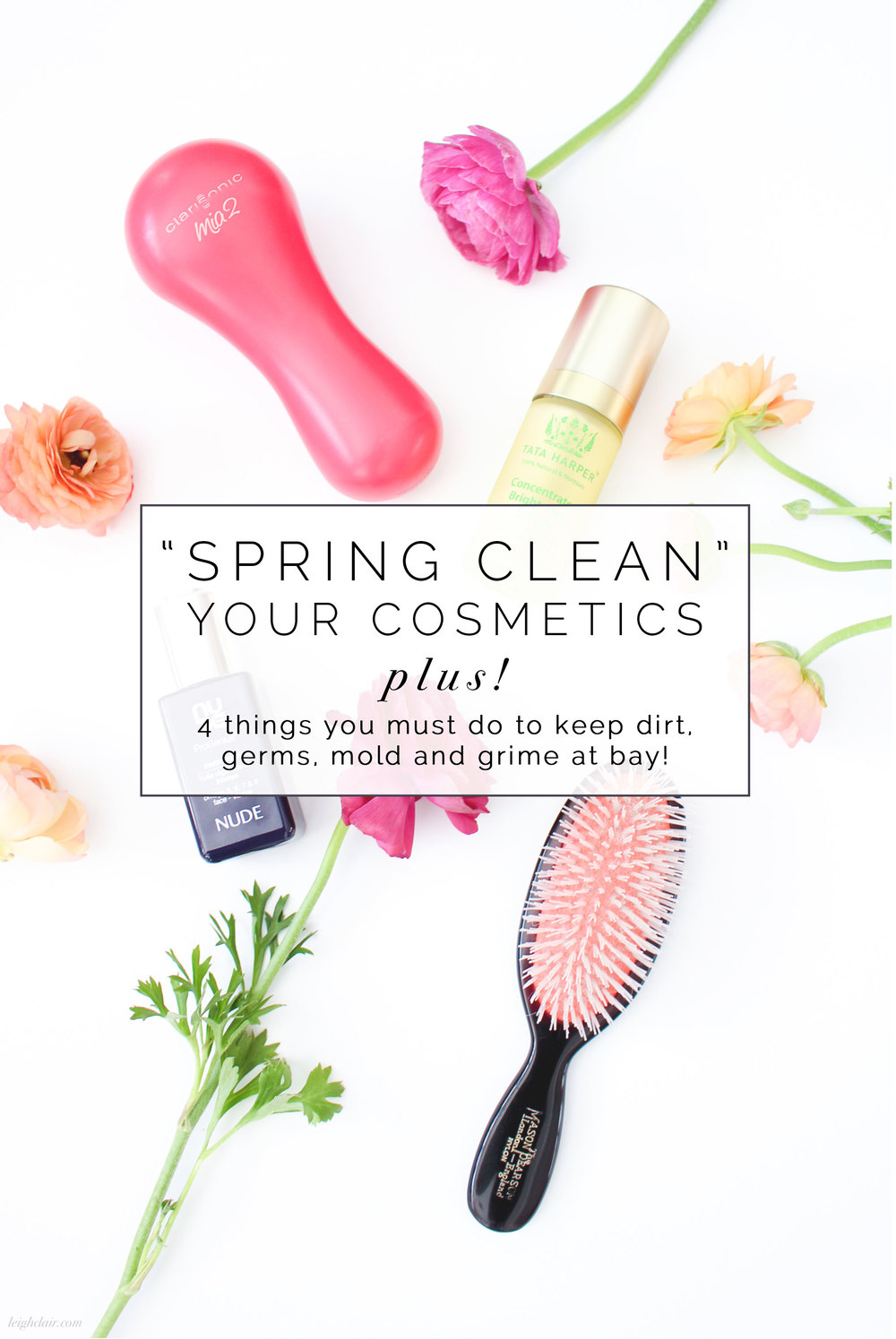 The importance of cleaning your cosmetics, tools, and devices.