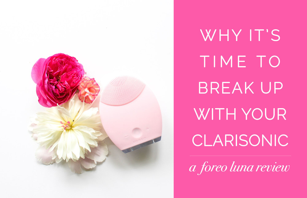 The only facial device that cleanses AND anti-ages, the Foreo Luna - Leigh Clair