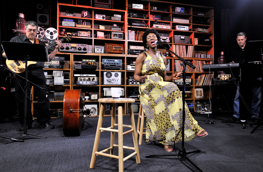Anakai Ney performs in the Sound Room on June 14, 2016, in Reading, PA. The Sound Room is a short performance produced by the WEEU radio station which features singer-songwriters from the Reading, Pennsylvania, area. (Sarah Stier: Reading Eagle)
