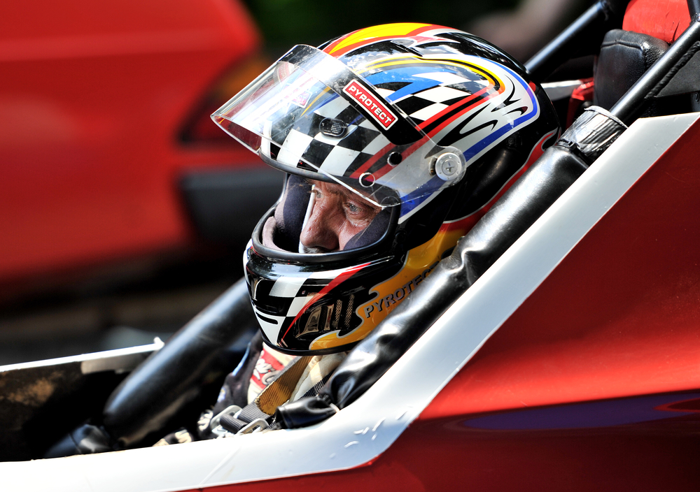 Timm Murphy of Coraopolis, PA, prepares to race his 98 Formula Mazda at the Pagoda Hillclimb in Reading, PA, on June 25, 2016. (Reading Eagle: Sarah Stier)