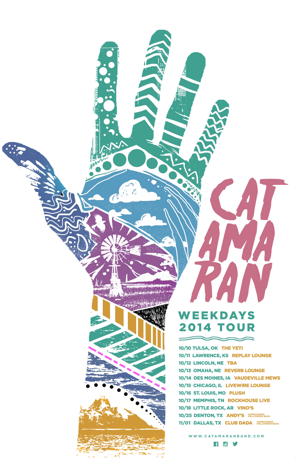 Weekdays 2014 Tour Poster