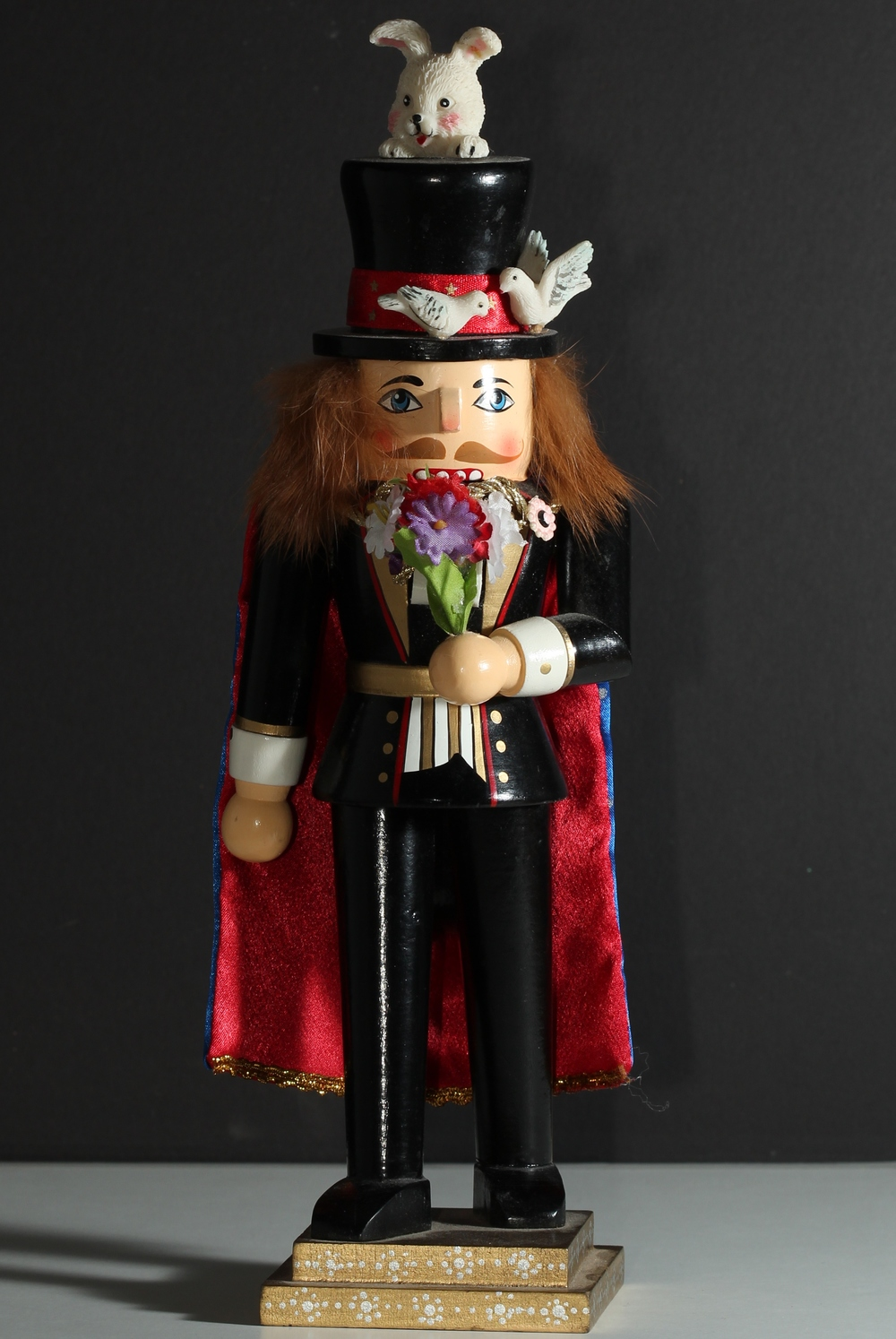 Note: This is a representation of Kyle Foster as a magician. Kyle Foster is not, in fact, a nutcracker.