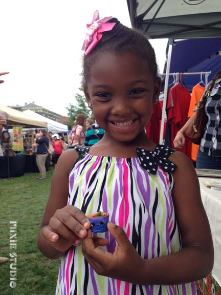This cutie chose this purple Beast Bud because it matched her dress :)