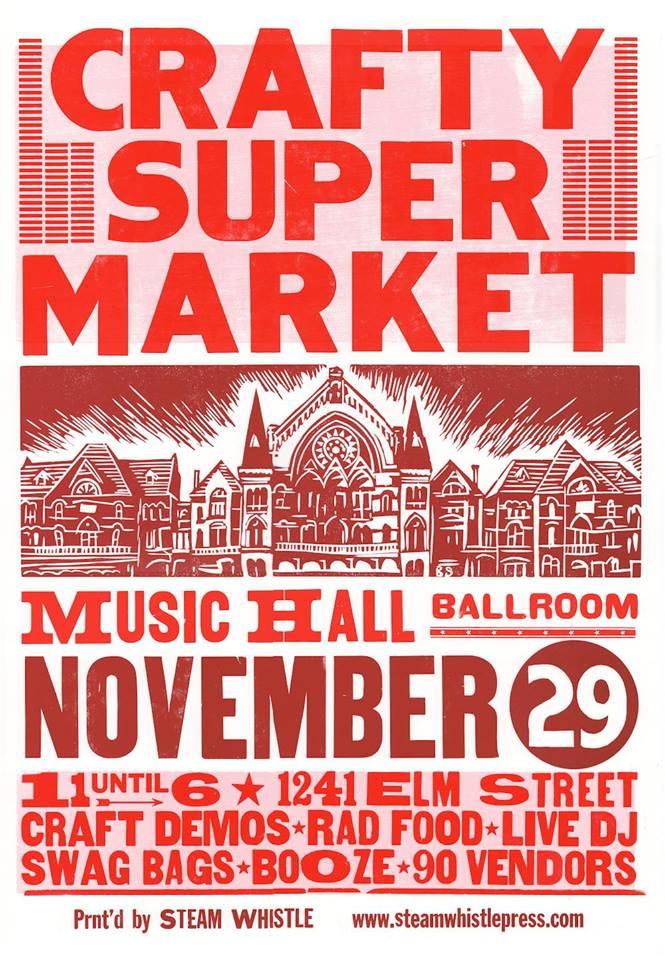 The event poster via http://craftysupermarket.com/