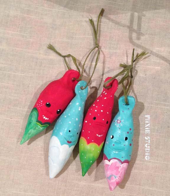 Funky Ornament Friends by Sara