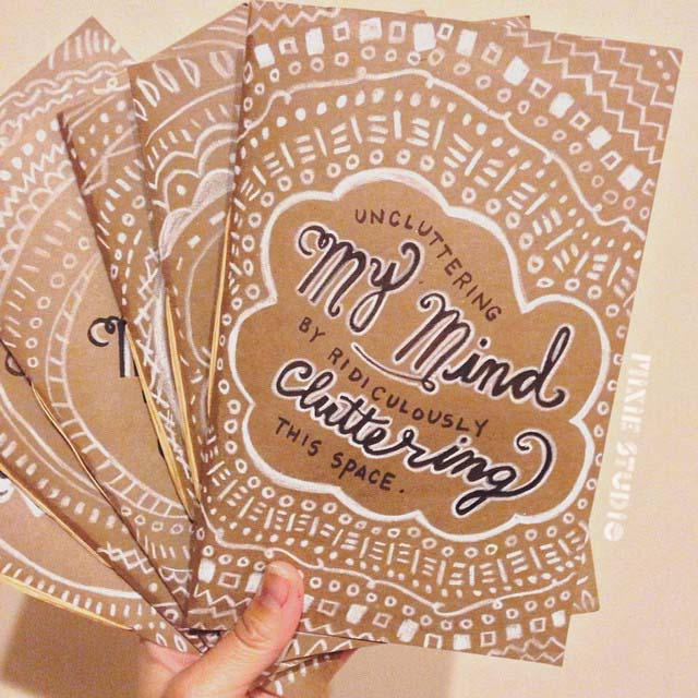 Hand-lettered and Hand-bound Sketchbooks/Journals by Lauren