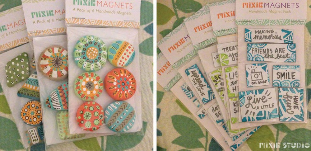 A variety of Hand-made Magnets by Lauren