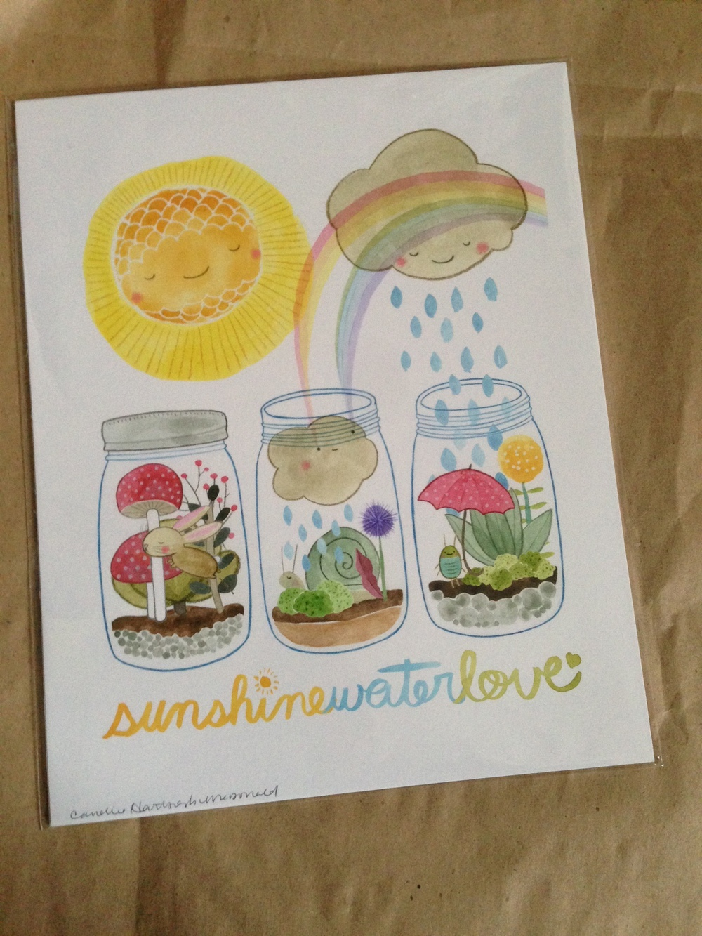 Love this Succulent Love print by Cordial Kitten!
