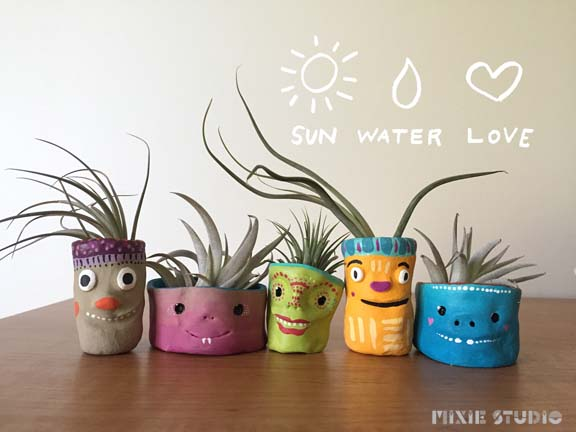 Our Beast Buddy Mini Planters come in a variety of sizes! These quirky little air plant holders are perfect for your kitchen window sill or on your computer desk!