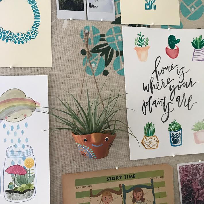 Hang it on a board or wall alongside your favorite artwork.