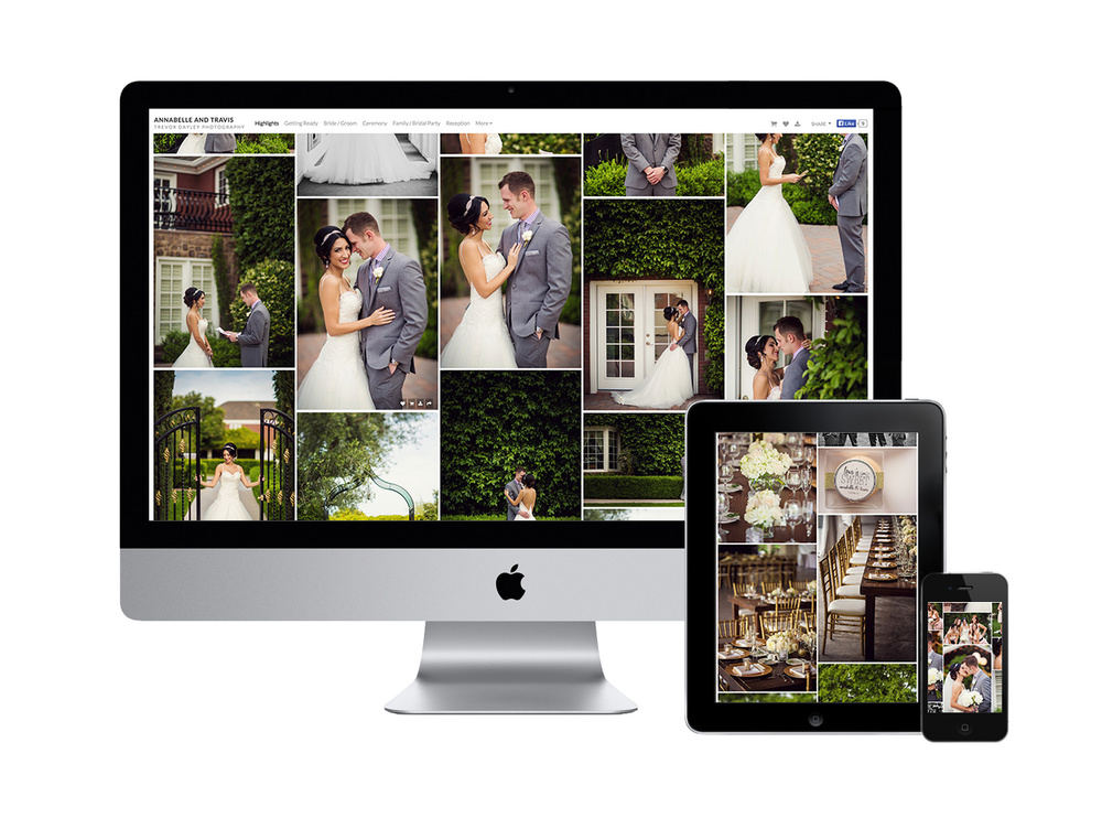 Sharing your digital wedding photographs is easy.