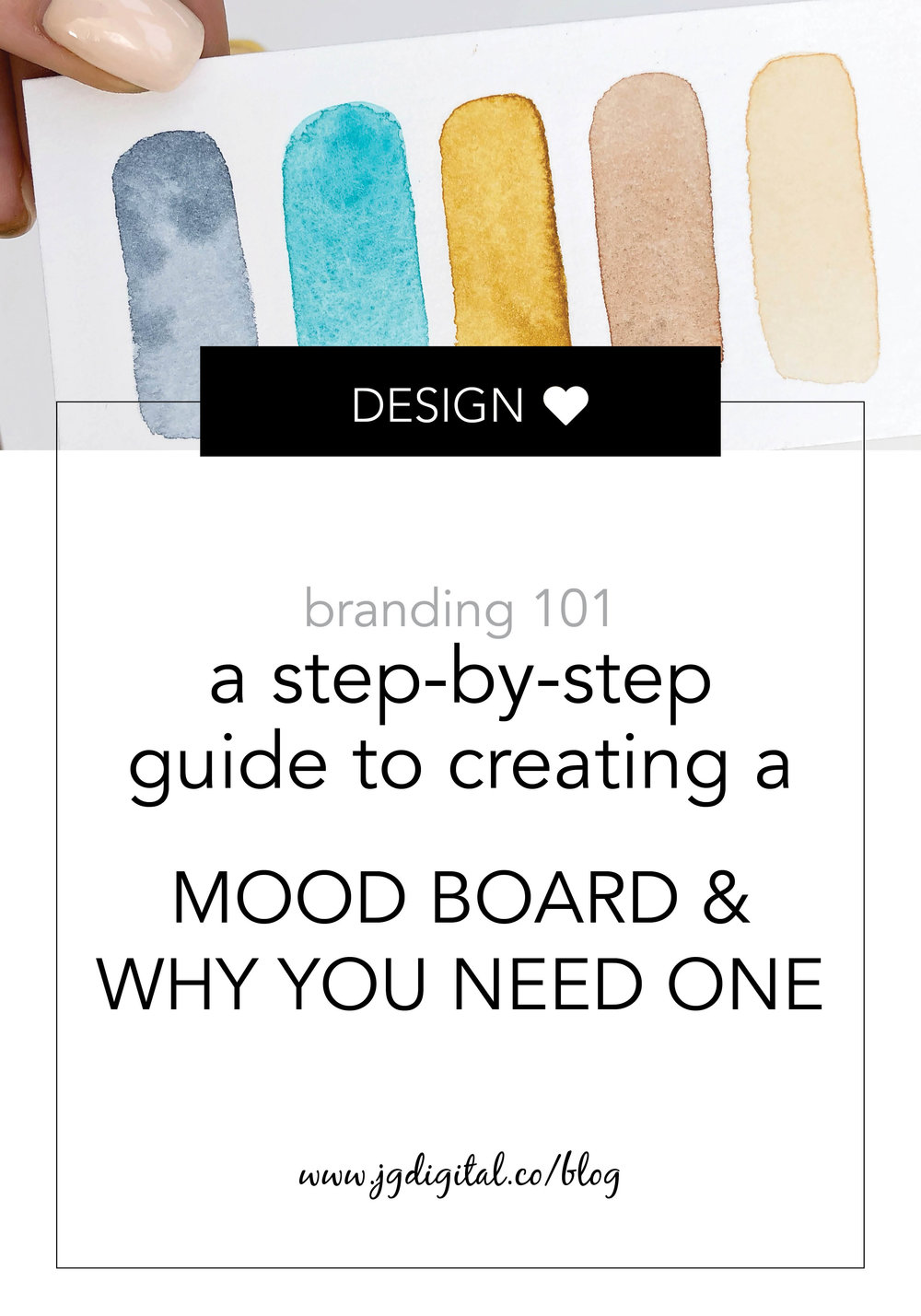 Learn How to Create a Custom Mood or Vision Board with our Step-by-Step Guide plus FREE PSD template by jgdigital.co