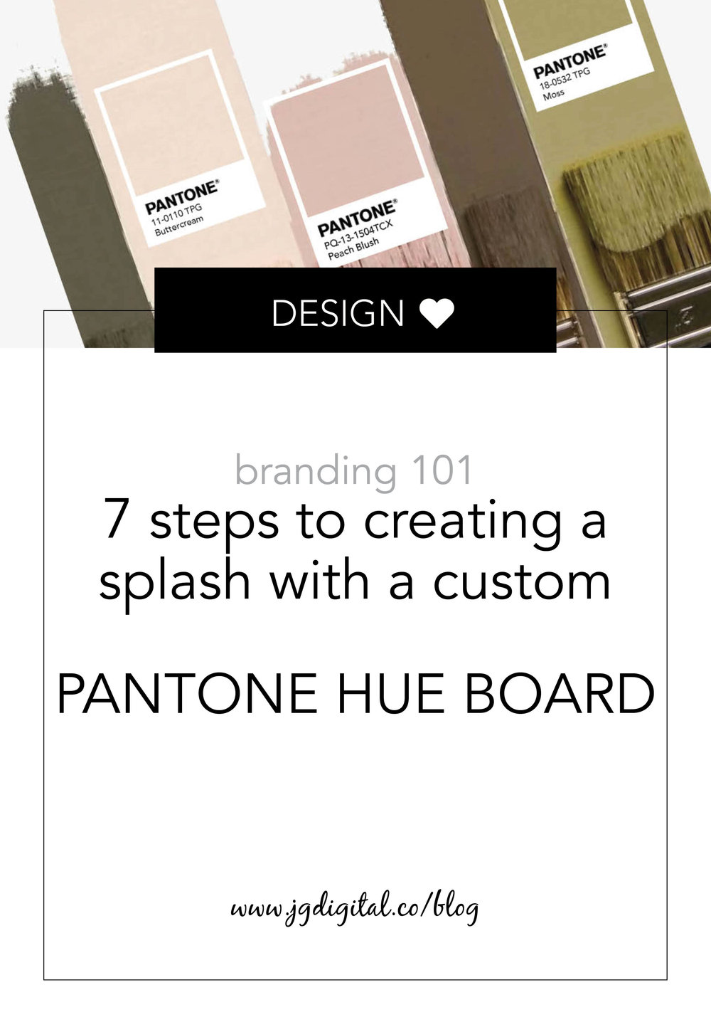 Learn How To Create Your Own Pantone Pop in 7 Simple Steps plus a FREE template by jgdigital.co