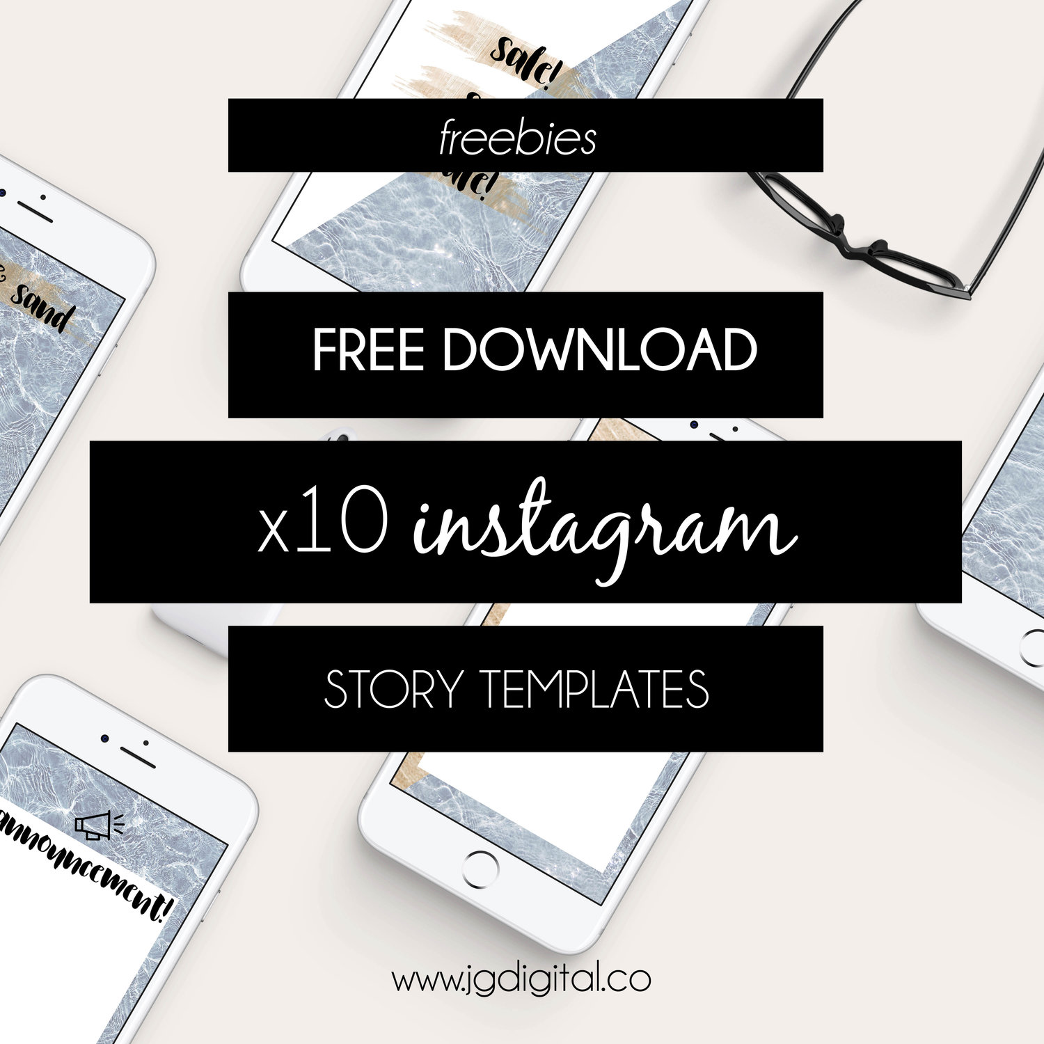 freebie: 10 summer inspired instagram story templates