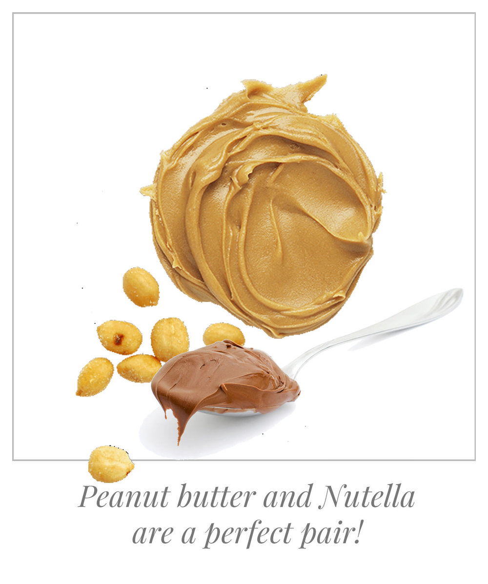 Peanut butter and Nutella are a perfect pair!