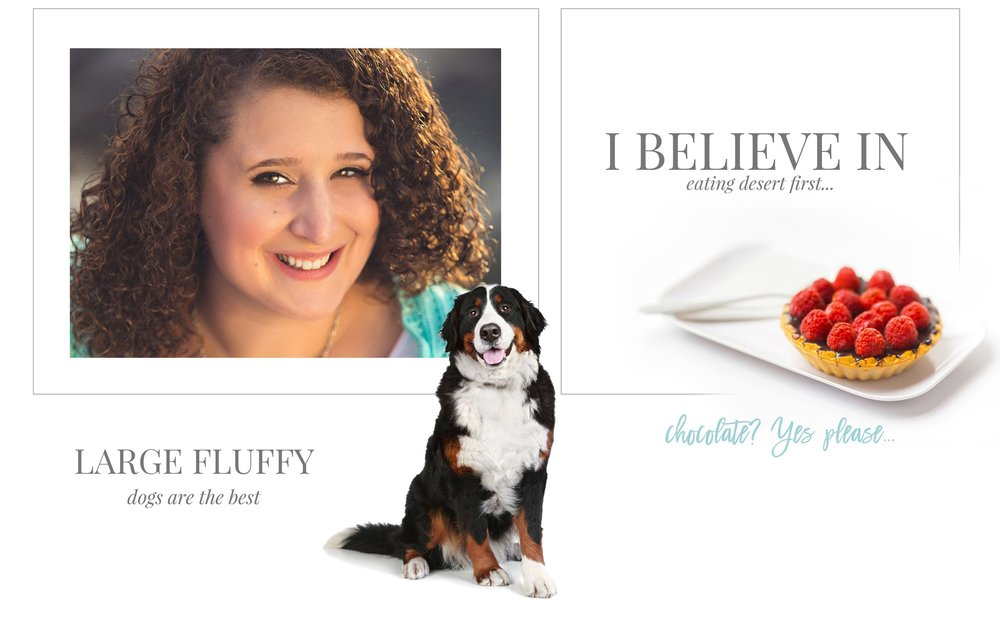 Learn more about Sarah Rachel. Large fluffy dogs are the best. I believe in eating desert first. Chocolate? Yes, please!