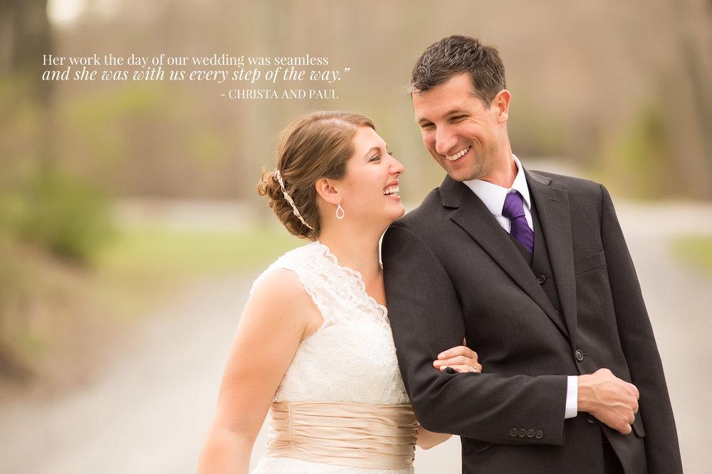 Mountain Springs Lake Wedding Photo