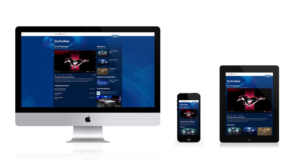 Live-stream website – Go Further 2013