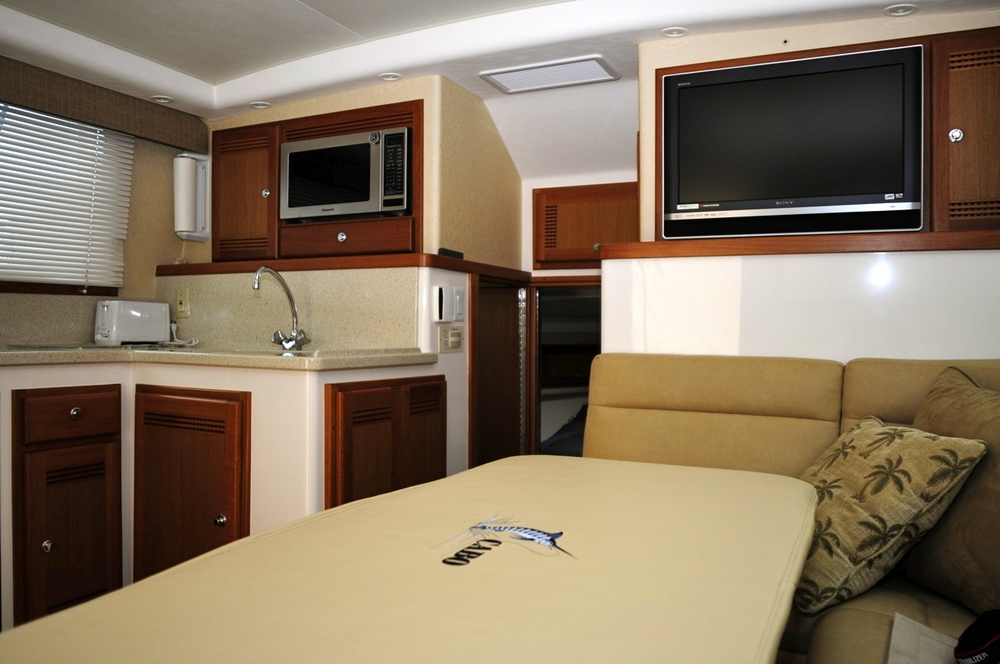 Cabo 35 Flybridge Interior for sale by Kusler Yachts