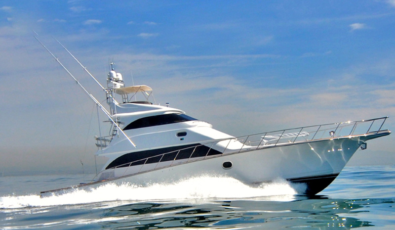"Profile view of 72' Titan Marine ""C-Bandit"