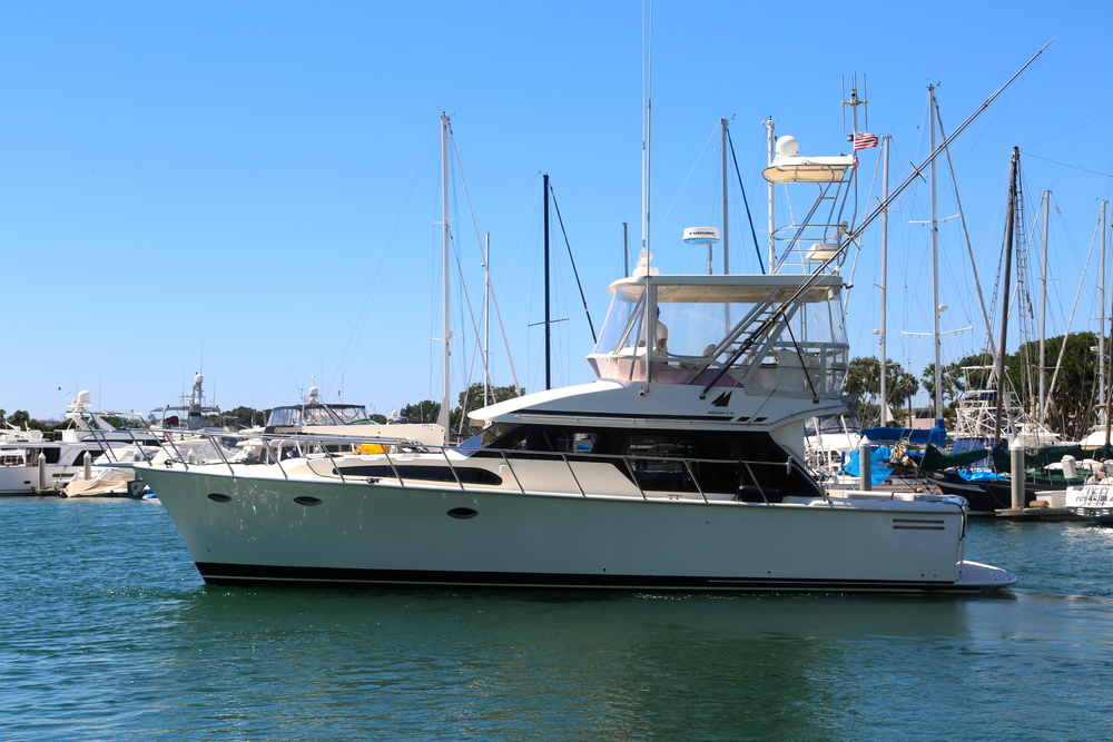 43 39 mikelson sport fisher kusler yachts san diego for Fishing boats for sale san diego