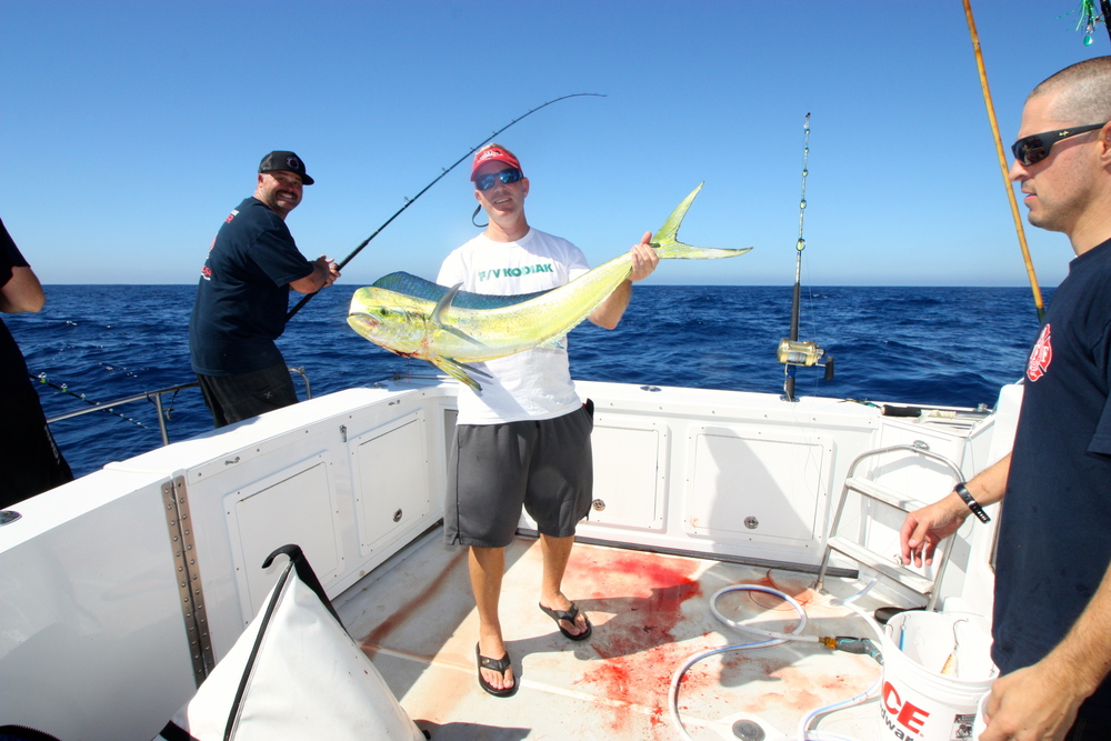 Michael Kusler with a nice Dorado offshore.