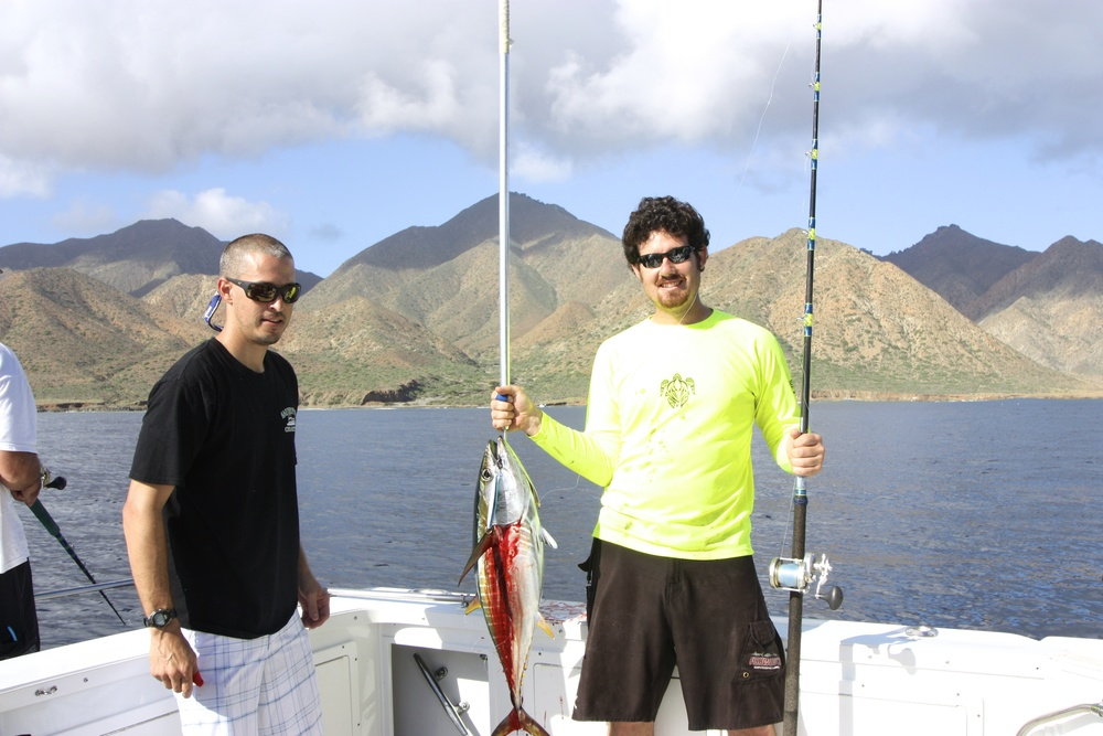 Dan and Drew with a nice Yellowfin at Cedros Island.