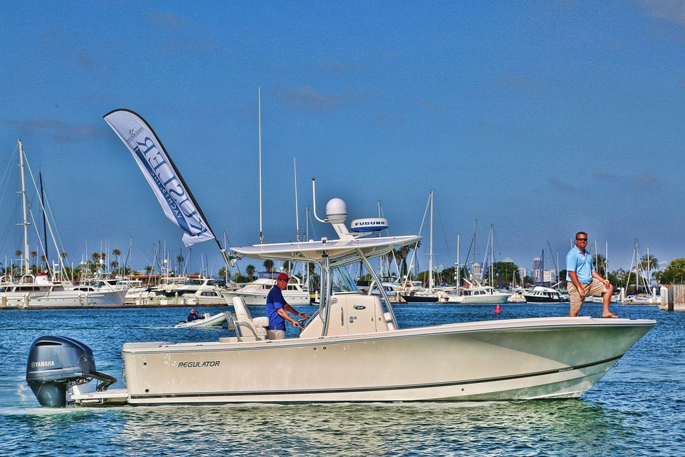 28' Regulator on display by Kusler Yachts San Diego Yacht Brokers (NEW 23' On Order!)