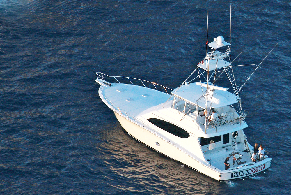 """Hatteras 68 """"Hammertime"""" for sale by Kusler Yachts."""