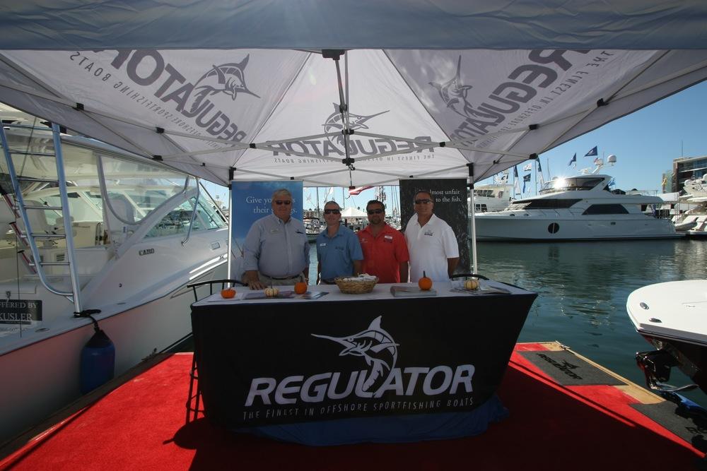 2013 Newport Beach Regulator Display with Kusler Yachts.