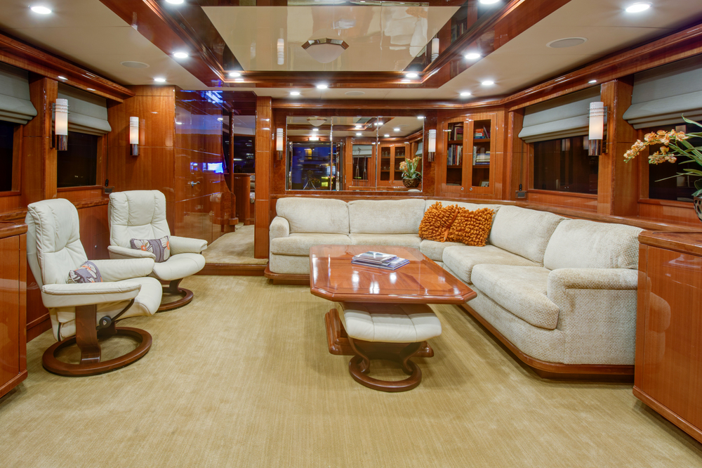 Salon View Ocean Alexander For Sale by Kusler Yachts
