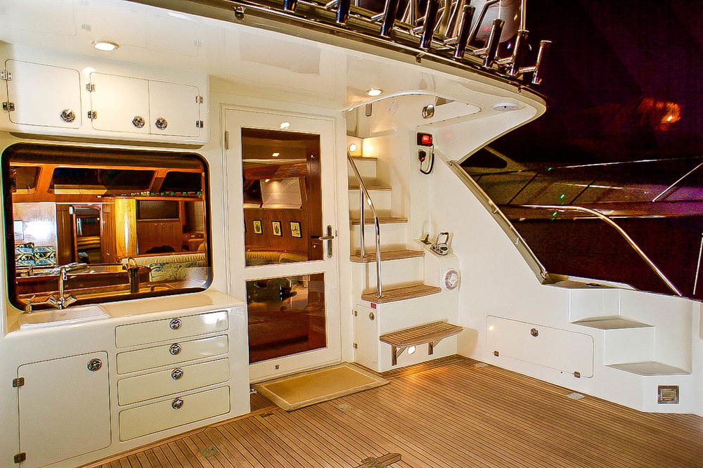 """50' Mikelson """"COYOTE cockpit for sale by Kusler Yachts"""