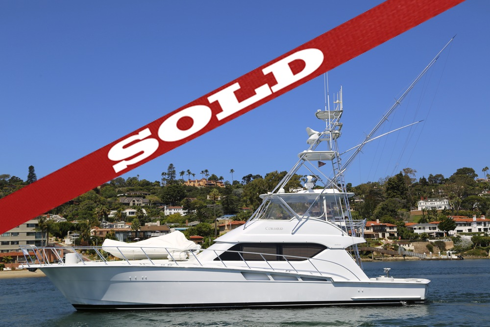 60' Hatteras SOLD by Kusler Yachts San Diego