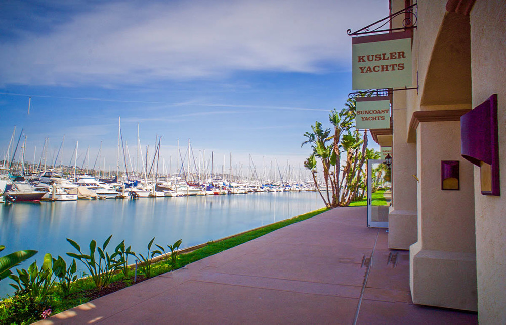 Kusler Yachts San Diego Yacht Brokers Corporate Office Location - San Diego California - Kona Kai Marina