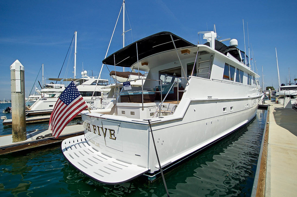 Hatteras Cockpit Motor Yacht for sale by Kusler Yachts California Yacht Brokers